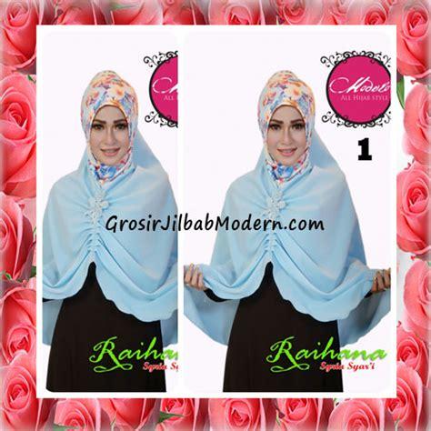 Syari Biru Muda 1 jilbab modis syar i raihana original by modelo no 1 biru