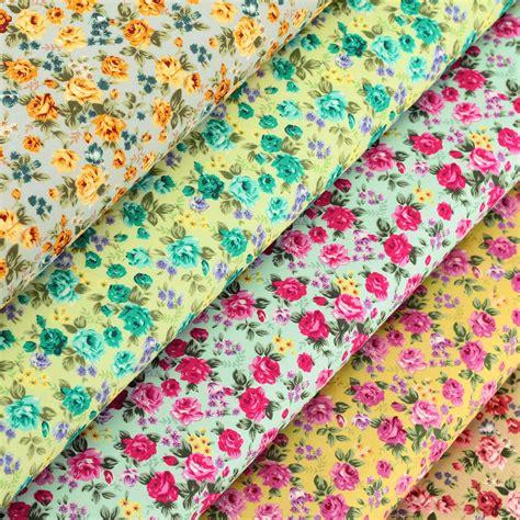 cotton fabric per fq rose flower shabby vintage retro chic