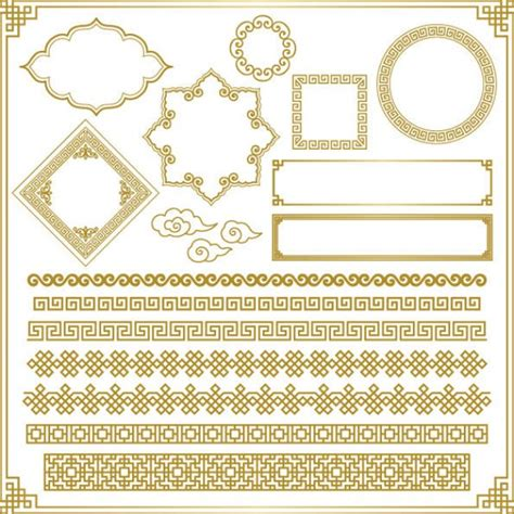 chinese design elements vector free oriental ornament elements vector free download