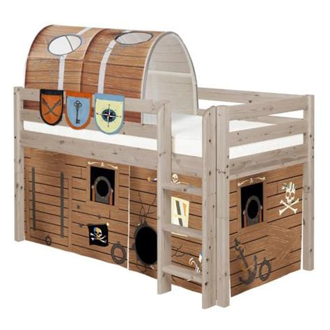 pirate bunk bed pirate midsleeper loft bed by flexa shown in terra