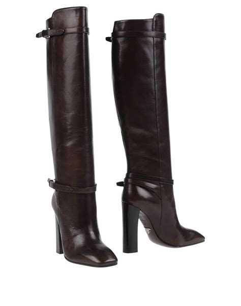 prada boots prada boots in brown lyst