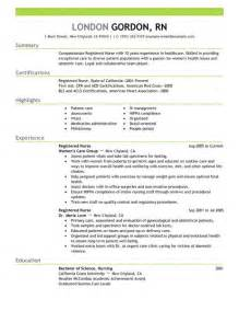 Registered Nurse Resume Examples Healthcare Resume