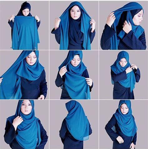 tutorial hijab yang cantik papasemar com 11 tutorial hijab segi empat simpel ini