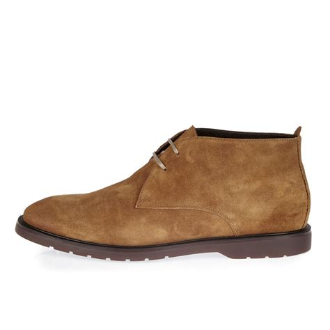 D Island Boots Portland Slip On Leather Brown river island brown italian leather chukka boots in brown