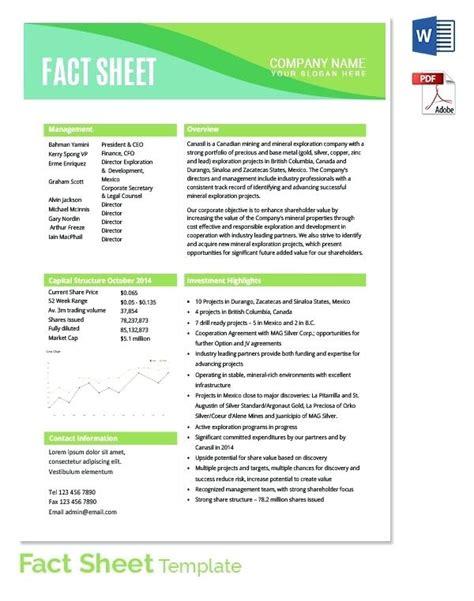pr fact sheet template information sheet templates employee personal information