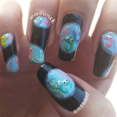 aquarium nail art tutorial peppa pig aquarium nail art by amanda04 on deviantart