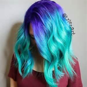 mermaid colored hair 20 gorgeous mermaid hair ideas from vibrant to pastel