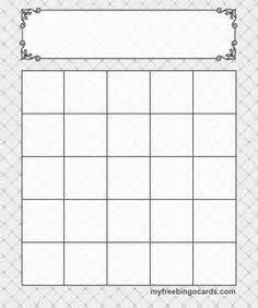 blank bingo card template 5x5 blank bingo card template every bingo imagined