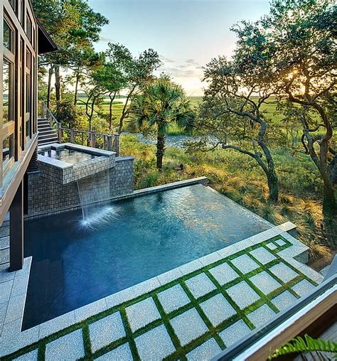 Green Homes Designs charming amp spectacular pool waterfalls to fashion every