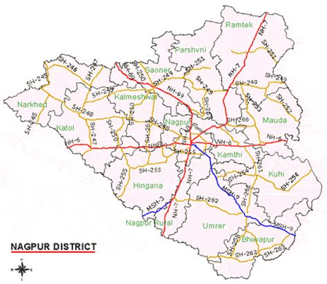 nagpur in map of india maps of nagpur