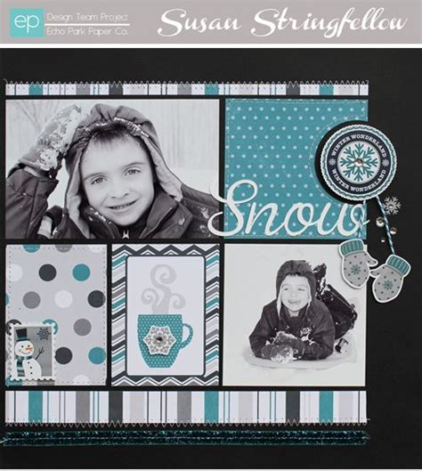 Snow Layout by Snow Winter Layout Scrapbooking Ideas