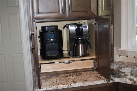 Coffee Station Cabinet by Traditional