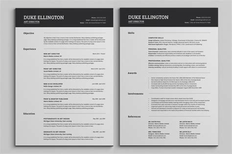 cv design classic two pages classic resume cv template resume templates