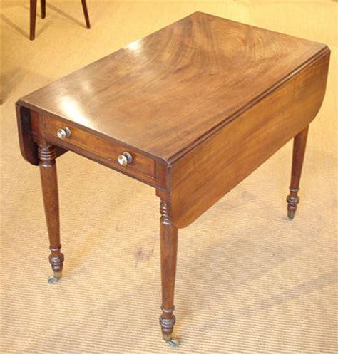 Droplet Table L by Antique Mahogany Drop Flap Table Georgian Pembroke Table