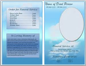 Funeral Presentation Template by Free Funeral Program Templates Just B Cause