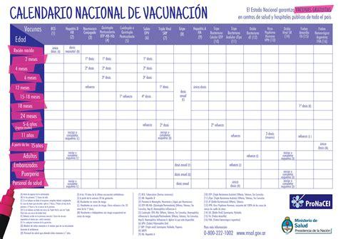 Calendario B Nacional Calendario Nacional De Vacunaci 243 N 2014