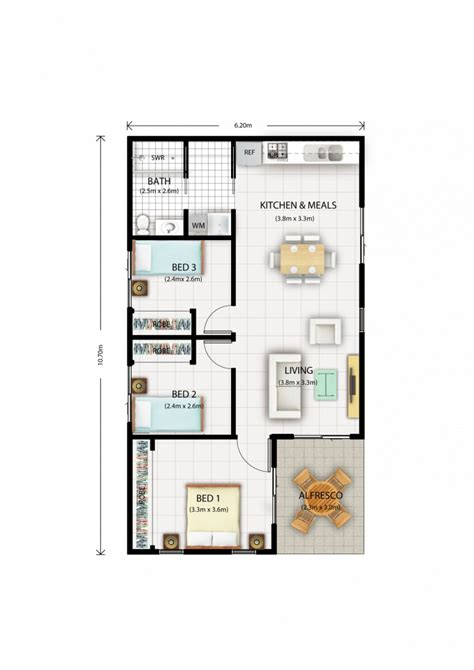 3 bedroom house with granny flat this 60sqm 3 bedroom each with built ins granny flat is