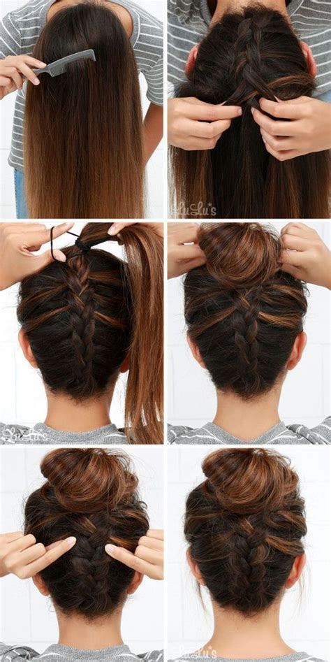step by step hairstyles for long hair with bangs and curls easy updos for long hair step by step to do at home in