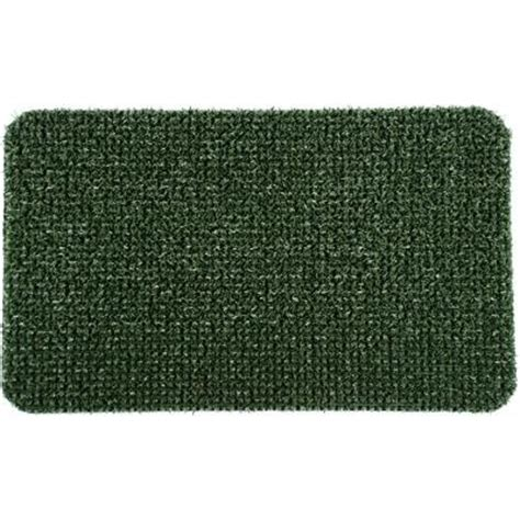 clean machine flair spruce green 18 in x 30 in door mat