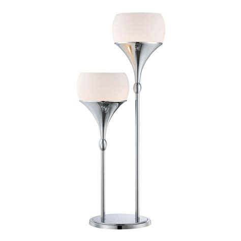 modern glass ls modern table l with white glass in polished chrome