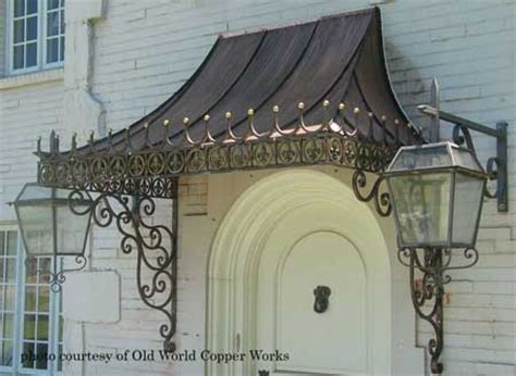 Copper Porch Awning by Front Door Awnings Rainwear