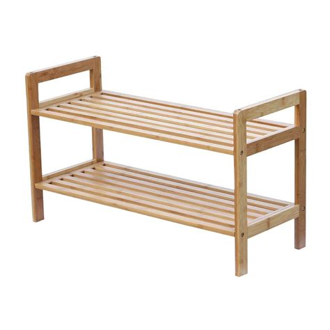 oceanstar 6 pair 2 tier bamboo shoe rack sr1309 the home