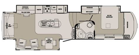 redwood 5th wheel floor plans 2012 redwood rv redwood 36rl fifth wheel owatonna mn