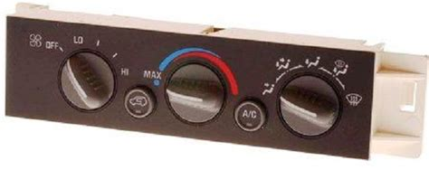 heating  air conditioning control panel symptoms  solutions