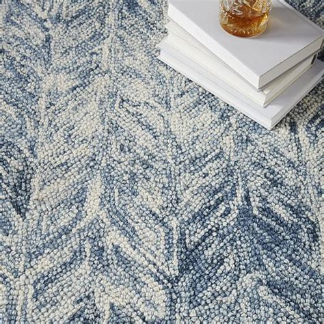 west elm blue rug vines wool rug blue lagoon west elm