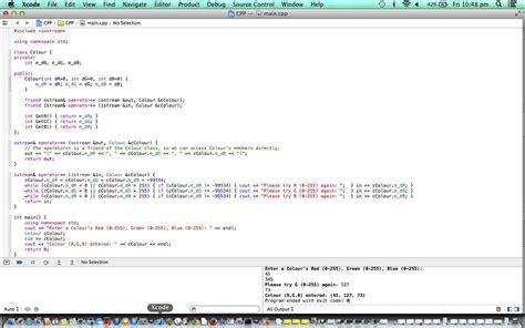 tutorial xcode java c xcode oop friend overload tutorial robert james