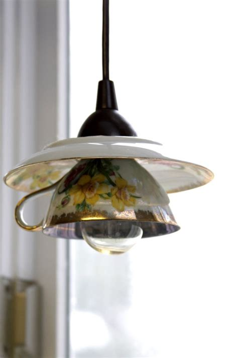Diy Pendant Light Shade Eye Catchy Diy Teacup Pendant Light Shades Shelterness