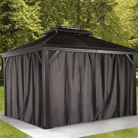 gazebo privacy curtains 1000 ideas about gazebo curtains on gazebo
