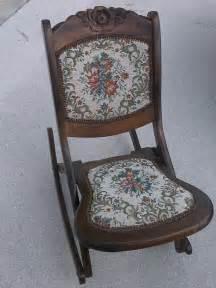 antique small folding sewing nursing rocker chair ebay