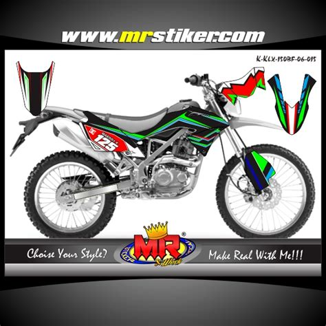 Decal Sticker Striping Klx 150 Bf klx 150 bf racing team kawasaki stiker motor striping