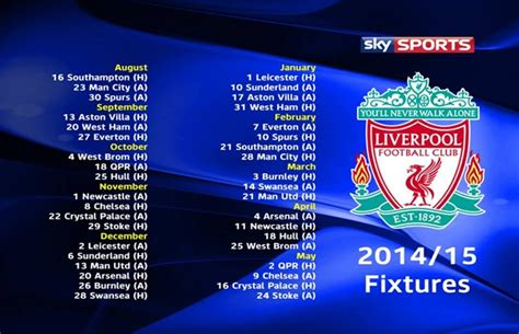 printable liverpool schedule ynwa liverpool s 2014 2015 full fixture list