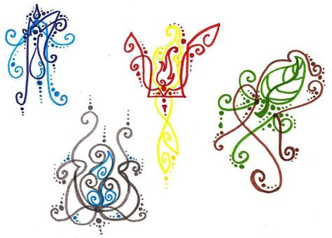 elemental tattoo designs elements doodle by silverwolf song on deviantart