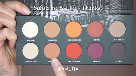 Zoeva Eyeshadow Fix Matte new zoeva matte palette tutorial sal qu