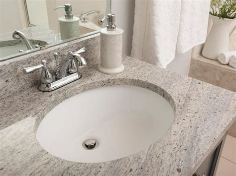 Granite Undermount Bathroom Sink by Bathroom Granite Countertop Costs Hgtv