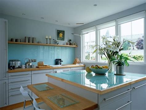 blue kitchen paint color ideas how to add blue color to modern kitchen design and decorating