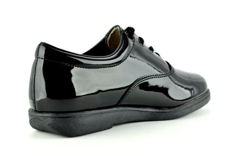 dinkles formal patent shoes black marching world