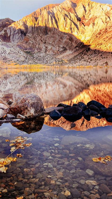 wallpaper convict lake autumn mount morriso california  nature