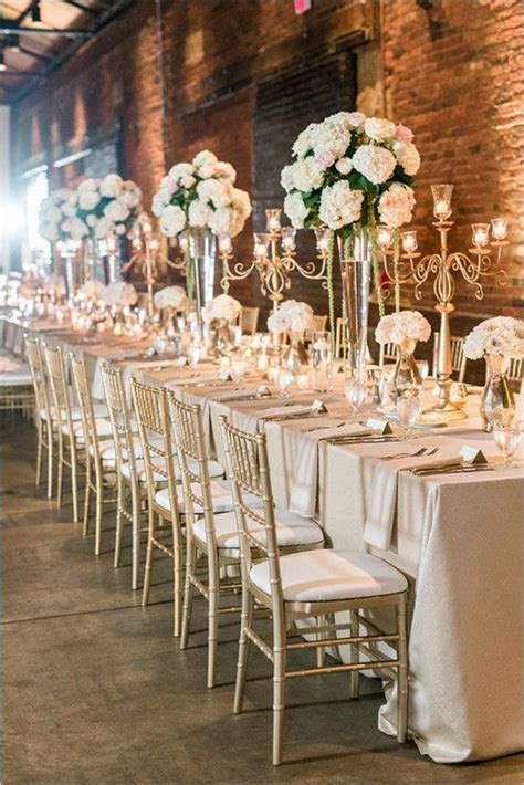17 Best ideas about Gold Wedding Centerpieces on Pinterest