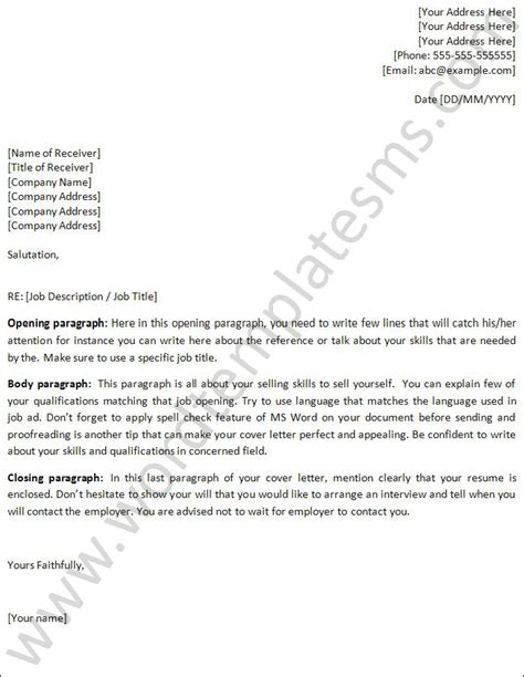Cover Letter Template Word by Cover Letter Template Word Playbestonlinegames