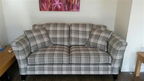 sofa in hebrides check fabric raymond mackenzie upholstery