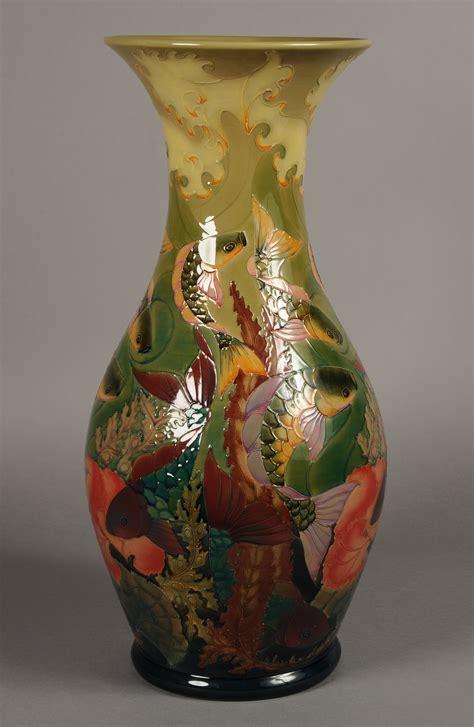 a moorcroft pottery limited edition large baluster vase