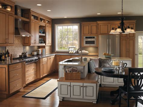 maple kitchen islands traditional maple kitchen cabinets with island seating