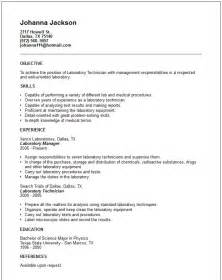 resume sle laboratory technician resume sles