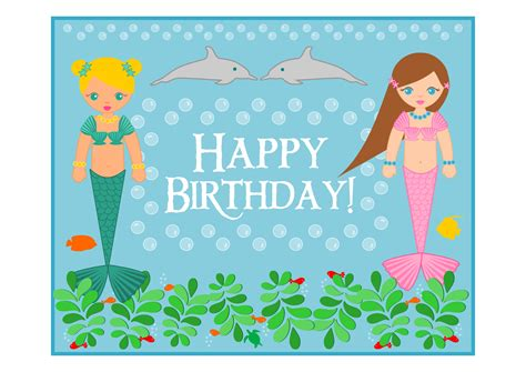 printable birthday cards with name 8 best images of mermaid free printable name tags little