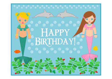 Printable Birthday Cards Mermaid | free mermaid birthday party printables from printabelle