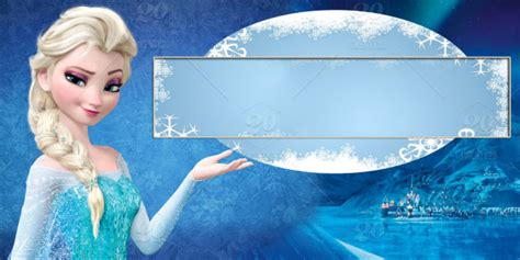 name tag design character queen elsa frozen name tag template stock photo